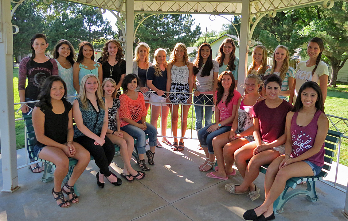 Sorghum Queen candidates for 2015 include 26 lovely young ladies. In the back row left to right are Emma French, Athziri Figaroa, Yaczeny Gastalum, Zeida Betance, Caitlin Lewis, Laney Hoskinson, Sarah Johnson, Maria Martinez, Mariah Rome, Mekenzie Hagman, Claire Clark and Vallery Persing. Sitting left to right are Ismerai Guzman, Alyson Kiley, Maggie White, Yaritza Maldonado, Mariah Reynolds, Megan Cornelson, Hannah Rodriguez and Marisol Don Juan. Candidates not pictured include Marlyn Heger, Adyson Gooch, Brecklyn Stump, Ali Wing, Brittney Stuckey and Brissa Ordonez. The Sorghum Queen competition will be Friday, July 24 at the Middle School Auditorium at 7:00 p.m.