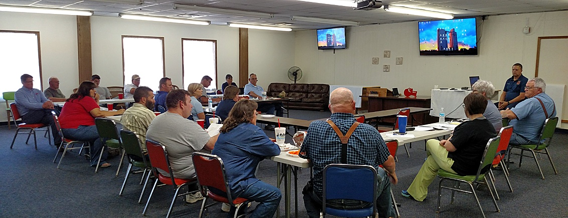 LEPC members listen as Rodney Kelling and Paula Rowden talk about needed updates in the Stevens County Emergency Plan to be turned in to the state for FEMA qualifications.