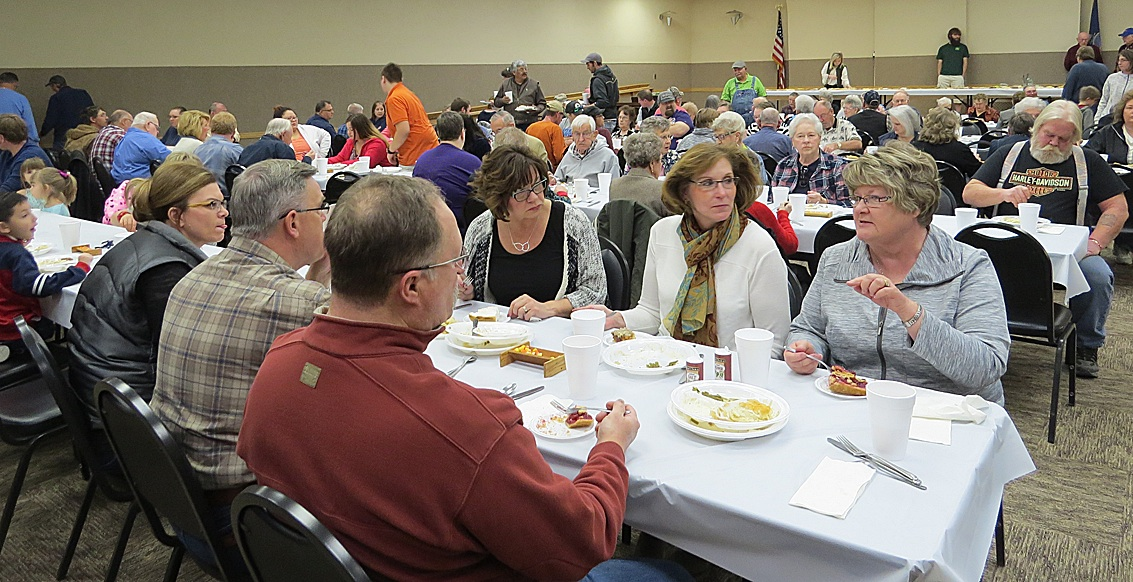The UMC Men's Ground Hog Supper is the perfect place to meet with local community members, eat a delectable - and filling - meal and discuss the issues of the day, not to mention the finer points of the perfect pie!